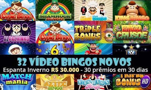 30 mil em  prêmios - novas video bingo