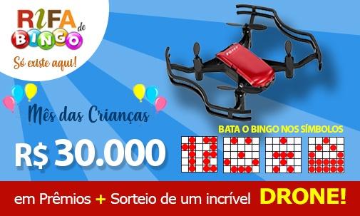 30 mil e sorteio Drone