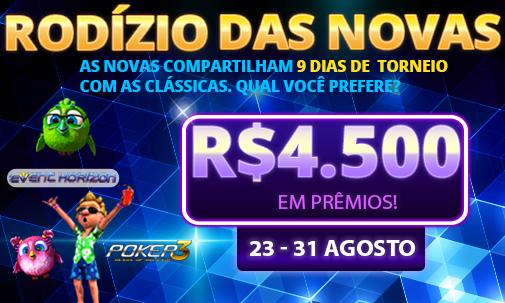 Rodízio das Novas - R$4.500 em prêmios