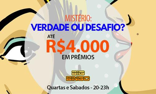 Mistério ou Desafio? Até R$4.000 em prêmios!