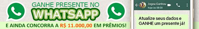 Ganhe Presente garantido no Whastapp e ainda Concorra a R$ 11.000 em prêmios - incluindo um iPhone X!
