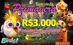 Bem vinda, Primavera - R$3.000 + presentes diários