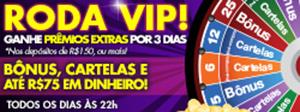 Roda VIP: prêmios extras por 3 dias, com seu depósito de R$150 ou mais!