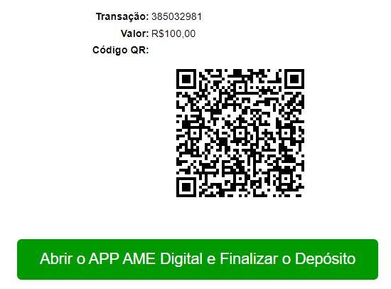 Depositando com AME