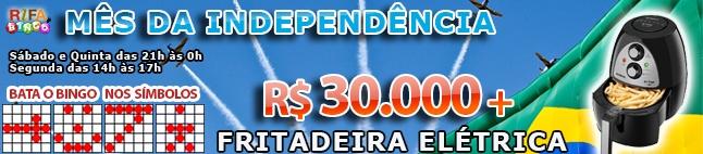 Rifa de Bingo  – 30.000 em Prêmios e Fritadeira Elétrica!