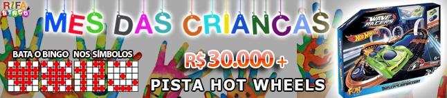 Rifa de Bingo  – 30.000 em Prêmios e Pista de Hot Wheels!