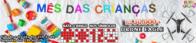Rifa de Bingo  – 30.000 em Prêmios e Drone Eagle!