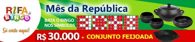 Rifa de Bingo  – Conjunto Feijoada e 30.000 em Prêmios!