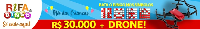 Rifa de Bingo  – DRONE e 30.000 em Prêmios!