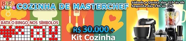 Rifa de Bingo  – 30.000 em Prêmios e Kit Cozinha!